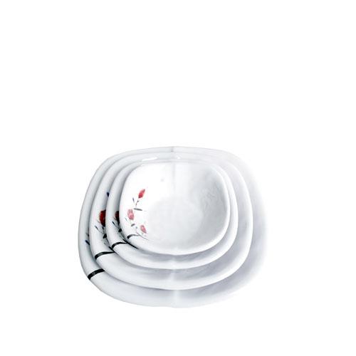 멜라민 튜울립 사각찬기 (4Size)