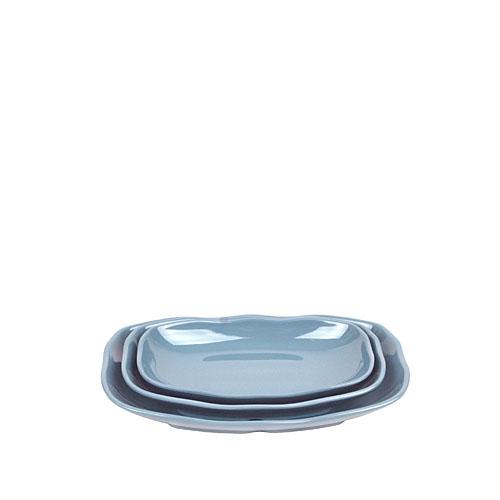 멜라민 청블루 직타원접시 185 (3Size)